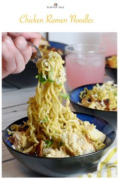 This Chicken Ramen Noodles Recipe can be made in about a half hour and feed four. - This Chicken Ramen Noodles Recipe can be made in about a half hour and feed four people, all for ab - Roast Chicken Ramen, Roast Chicken Recipes, Crispy Chicken, Chicken Feed, Turkey Recipes, Ramen Noodle Recipes, Ramen Noodles, Chowmein Noodles, Noodle Noodle
