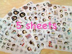 Cooky girl sticker ver3 korean cartoon icon by StickersKingdom