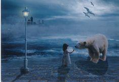 Polar Bear, Postcards, Gallery, Painting, Animals, Art, Art Background, Animales, Animaux