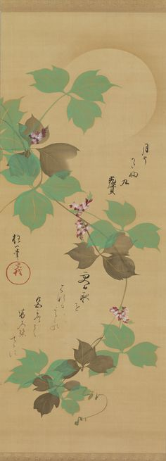 Sakai Hôitsu Moon and Arrowroot Vine