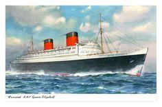 "GB Buque Correo RMS (Royal Mail Ship) ""Queen  Elizabeth I"" 1940, de Cunard Line"