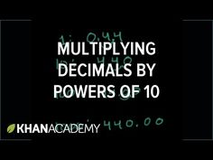 Multiplying a decimal by a power of 10 | Topic A: Multiplicative patterns on the place value chart | Module 1: Place value and decimal fractions | 5th grade (EngageNY) | Khan Academy