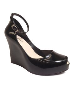 Look at this #zulilyfind! Bamboo Black Jovial Wedge by Bamboo #zulilyfinds