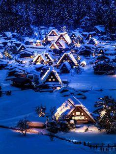 An Amazing Winter Scenery, Shirakawa-go, Japan.