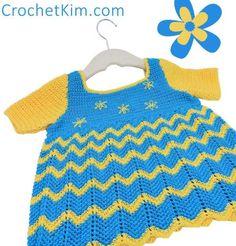 CrochetKim Free Crochet Pattern   Lazy Daisy Baby Top @crochetkim
