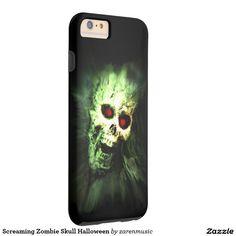 Screaming Zombie Skull Halloween