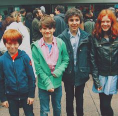 Ryan Turner (Hugo Weasley), Arthur Bowen (Albus Severus Potter), Will Dunn (James Sirius Potter) , and Helena Barlow (Rose Weasley)