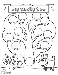 family tree template for kids - Google Search                                                                                                                                                      More