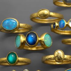 Today feels like a walk in the park. Shop rings in bright blue summer hues…
