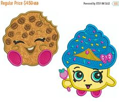 ON SALE SHOPKINS 2 Machine Applique Embroidery by Embroiderblock