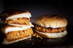Chipotle Maple Sweet Potato Burgers (Use organic sweet potatoes and non-GMO nutritional yeast.)