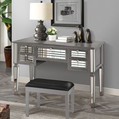 Bishop Mirrored Writing Desk
