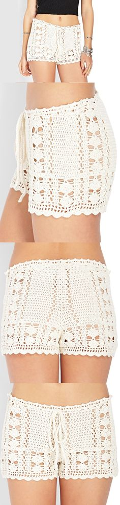 Dream Weaver Crochet Shorts