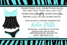 Customized Bridal Lingerie Shower Invitation by DewDropDigitals, $12.00