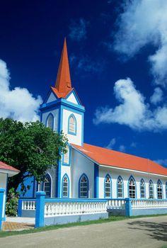 Church on the island of Tahaa, French Polynesia