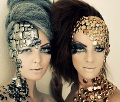 I absolutely love this use of sequins it has such a dramatic effect and is pretty. I want to do this with my model using Latex or Gelatin.