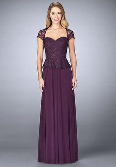 La Femme Evening 24915 Purple Mother Of The Bride Dress