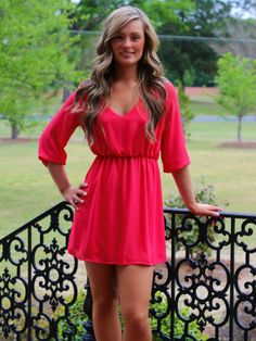 Lavish Boutique  - All In The Details Dress: Coral, $46.00 (http://lavishboutique.com/all-in-the-details-dress-coral/)