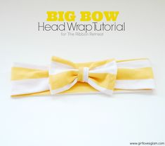 Big Bow Head Wrap Tutorial on www.girllovesglam.com #diy #tutorial #accessory