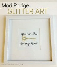 Mod Podge Glitter Art and Giveaway - Here Comes The Sun