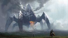 """chase-stone: """" Entry for the Deviantart colossus contest, had a lot of fun making it! All painted in photoshop. Shadow Of The Colossus, Cthulhu, Fantasy Creatures, Mythical Creatures, Strange Creatures, Fantasy World, Fantasy Art, Fantasy Paintings, Chase Stone"""