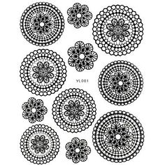 Kaifina 1PC New Design 3D Nail Art Stickers Trendy Nail Wraps Nail Decals Black Flower Lace Nail Polish Decorations *** For more information, visit image link.