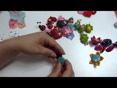 mariquitas con botones,  y corazones para decorar moños o manualidades