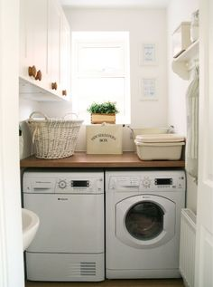 Laundry Room - Small Space with folding table and lots of storage
