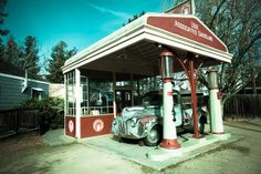 old gas stations | Vintage Gas Station and old Truck | Flickr - Photo Sharing!