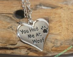 You Had Me At Woof - Dog Necklace