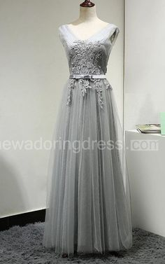 US$88.00-Pleated Tulle Grey Long Bridesmaid Dress With Appliques and Belt. http://www.newadoringdress.com/pleated-tulle-dress-with-appliques-and-belt-pET_102728.html. Shop for long dresses, designer dresses, casual dresses, occasion dresses, backless dresses, elegant dresses, black tie dresses, We have great 2016 fall bridesmaid dress for sale. Avialble in Gold, Yellow, Pink, Lavender Burgundy, Peach…#NewAdoringDress.com