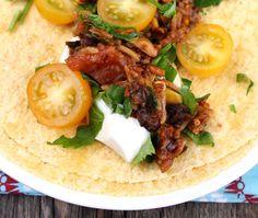 Veganmisjonen: Taco med ris, sjampinjong og sorte bønner