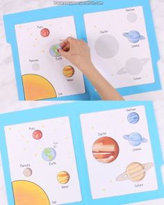 Solar System File Folder Game Let your kids or students explore the planets in our solar system with this interactive file folder game. Preschool Learning Activities, Toddler Activities, Preschool Activities, Teaching Kids, File Folder Games, File Folders, Science For Kids, Kids Education, Planets