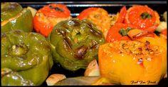 Greek style Stuffed Vegetables (Yemista) ~ Food Fun Freak