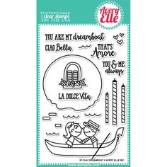 "Avery Elle Clear Stamp Set 4""X6""-Dreamboat"