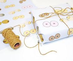 Boob Gift Wrap  Wrapping Paper  Valentines Wrap  Mothers Day Giftwrap  by Lost Marbles Co