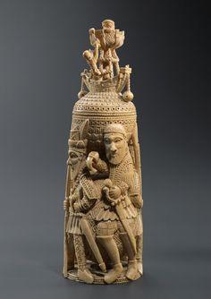 Bini-Portuguese Ivory Salt Cellar - now in the collection of the Musée du Quai Branly, Paris - image 3