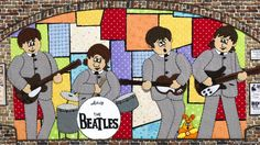 The Beatles performing at the Cavern Club by Maria Saunderson