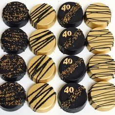 Black & Gold Oreos