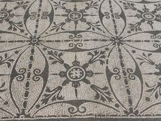 AMazing detailied mosaic tile pattern. Hadrian Villa (Italy). Centuries old. -via Interior Canvas