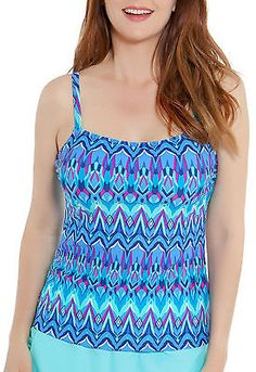5c2c574c98 Tops and Blouses 63858: Beach Diva Womens Kaleidoscope Stamp Tankini Top ->  BUY IT
