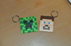 Minecraft party activity. Made from fuse beads, available at any craft store.
