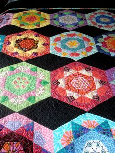 Double Quilt in Hexigon Design by uniquelynancy