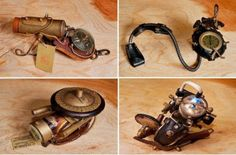 Jules Verne called, he wants his watch back; steampunk watches by Haruo Suekichi.
