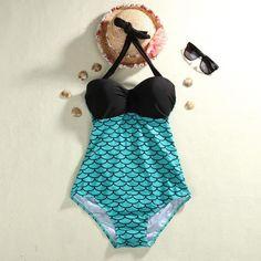 0a72479d9da54 Sexy Women's Mermaid One Piece Swimsuit - Plus Size L-3XL Sexy Bikini,  Bikini