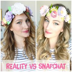 DIY Tutorial - Couronne de fleurs façon Snapchat - Snapchat flowers crown VIDÉO…