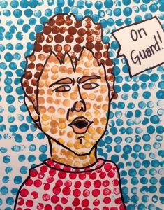 Lichtenstein Portraits with erasers