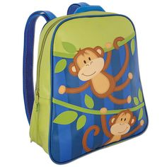 Stephen Joseph Go Go Backpack Boy Monkey