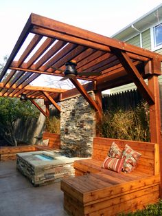 Interesting way to add a pergola… A home in the M-Streets District of Dallas. OneSpecialty.com