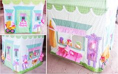 """Parties and Patterns: Card Table Playhouse Pattern """"My Dollies Playhouse"""""""